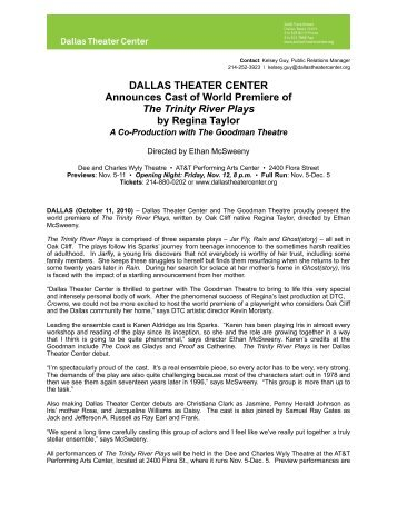 TTRP Casting Release Final.pages - Dallas Theater Center