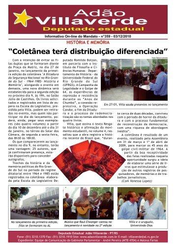 """""""Coletânea terá distribuição diferenciada"""" - Adão Villaverde"""