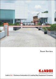 Boom Barriers Gandhi Automation Pvt Ltd