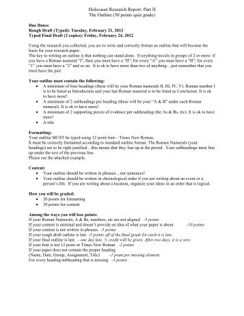 holocaust paper term Holocaust thesis statement - custom essays, term papers holocaust thesis statement on holocaust denial free title page these papers are intended to be used for research and reference purposes only 630151 author posts viewing 1 post (of 1 total.