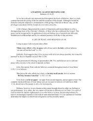 1 A WARNING AGAINST REFUSING GOD ... - Vital Christianity