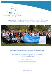 """""""What Roles for Rural Areas in Tomorrow's Europe?"""" - FGF"""