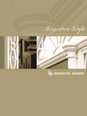 Prestige Hardwood Door and Classical Surround - Munster Joinery