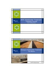 ARTC Wastewater Treatment Training Course