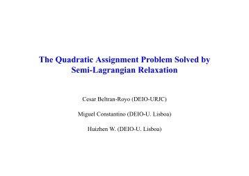solve assignment problem online
