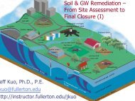 Soil & GW Remediation – From Site Assessment to Final Closure (I)