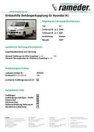 Einbauhilfe Anhängerkupplung für Hyundai H1