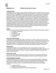 Politique de gestion du risque - Genome Canada