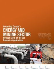 EnErgy And Mining SECtor - Genome Canada
