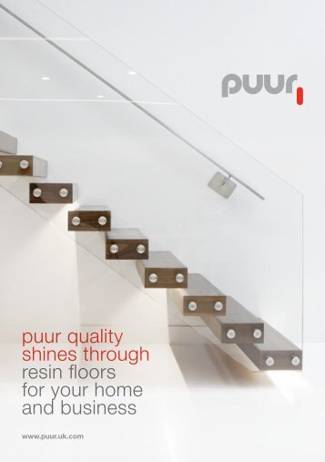 puur quality shines through resin floors for your home and business