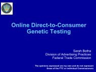 SUBSTANTIATING ADVERTISING CLAIMS: - Genome Canada