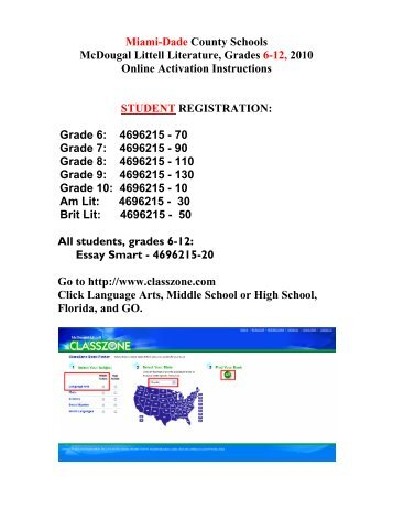 Mcdougal littell literature grammar for writing workbook answer key miami dade county schools mcdougal littell literature grades 6 fandeluxe Image collections