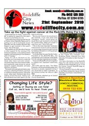 20100921Edition272 - Redcliffe City News