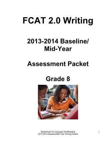 Middle Packet - Division of Language Arts/Reading