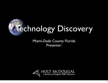 Technology Discovery - Division of Language Arts/Reading