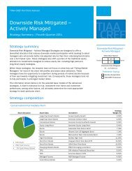 Downside Risk Mitigated — Actively Managed (PDF) - TIAA-CREF