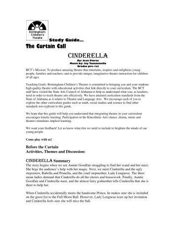 Cinderella Study Guide - Birmingham Children's Theatre