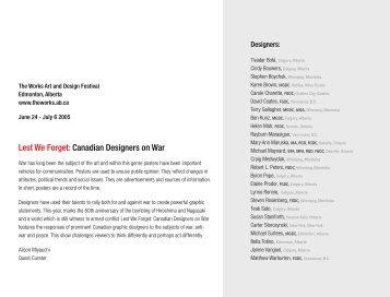 Lest We Forget: Canadian Designers on War - Robert L. Peters