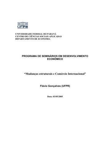 Mudanças estruturais e Comércio Internacional - Revista Economia ...