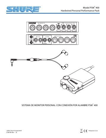Shure P4MHWE1 User Guide Spanish