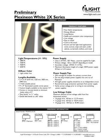 Plexineon WHITE 2X Preliminary Spec Sheet 9-07.qxp - iLight ...