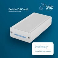 Anleitung Solisto.DAC-4all, Deutsch - Solisto Audio Shop