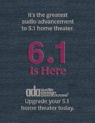 ADA 6.1 Surround Flyer - Audio Design Associates