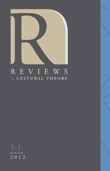 Download Full Issue - Reviews in Cultural Theory