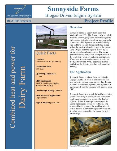 Sunnyside Farms - CDH Energy Corp