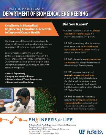 Department Summary - Biomedical Engineering - University of Florida
