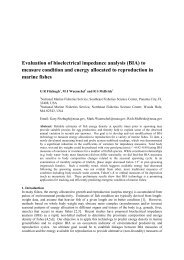 Evaluation of bioelectrical impedance analysis (BIA) to measure ...