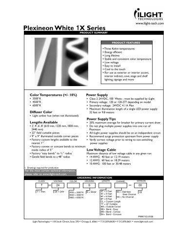 Plexineon White 1X Series - iLight Technologies