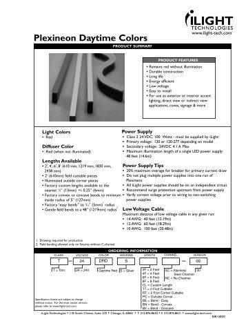 Plexineon Daytime Colors - iLight Technologies