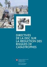 directives de la ddc sur la reduction des risques ... - Deza - admin.ch
