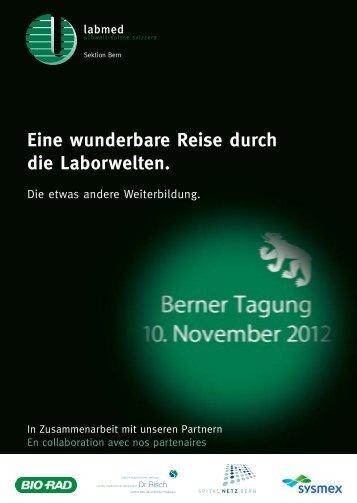 Eine wunderbare Reise durch die Laborwelten. - Sektion Bern