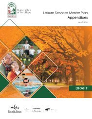 DRAFT Leisure Services Master Plan Appendices - i:Blog ...