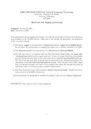 SI661/EECS595/LING541 Natural Language Processing - CLAIR ...