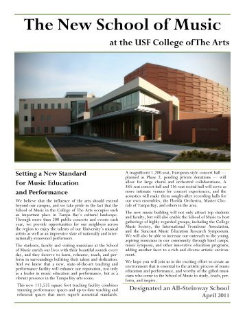 Music Building Brochure - Revised April 22 2011 - College of The Arts