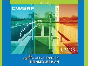 Public Meeting Presentation on FY 2013 Intended Use Plan - Water ...