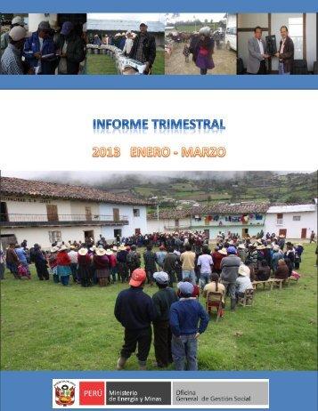 Informe Trimestral (enero - marzo 2013) - Ministerio de Energía y ...