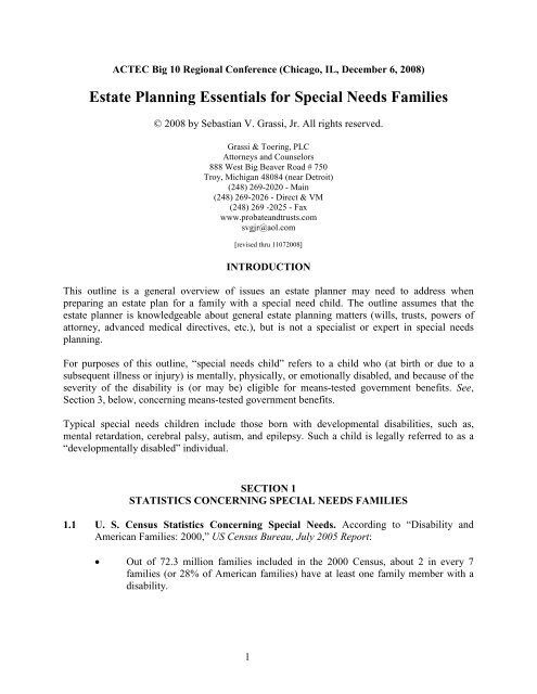 Estate Planning For Special Needs >> Estate Planning Essentials For Special Needs Families American