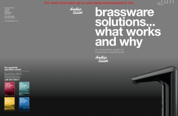 Brassware Solutions Brochure - Barbour Product Search