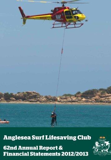 62nd Annual Report 2012/2013 - Anglesea Surf Life Saving Club