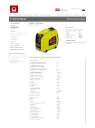Side 1 af 2 PRAMAC - Portable generators, P Inverter Series: P ...