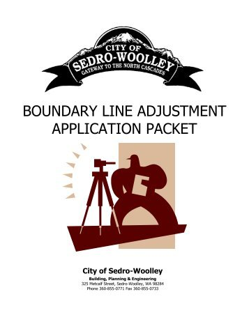 boundary line adjustment application packet - City of Sedro-Woolley