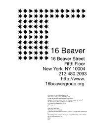 16 Beaver (New York, USA) - Sparwasser HQ