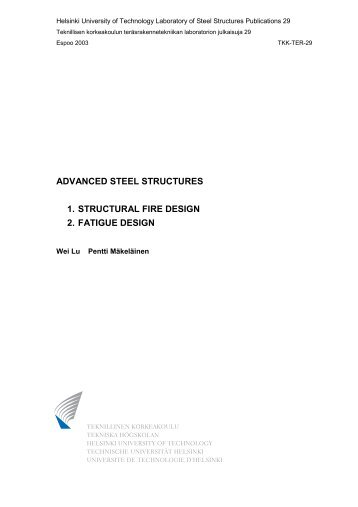 advanced steel structures 1. structural fire design 2 ... - Amazon S3