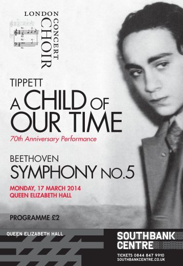 17 March 2014: A Child of Our Time (Tippett)