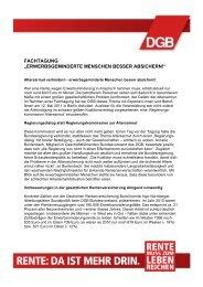 Tagungsbericht als pdf herunterladen - 'Rente muss zum Leben ...