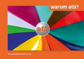 atb Systemetiketten - Imagebroschüre